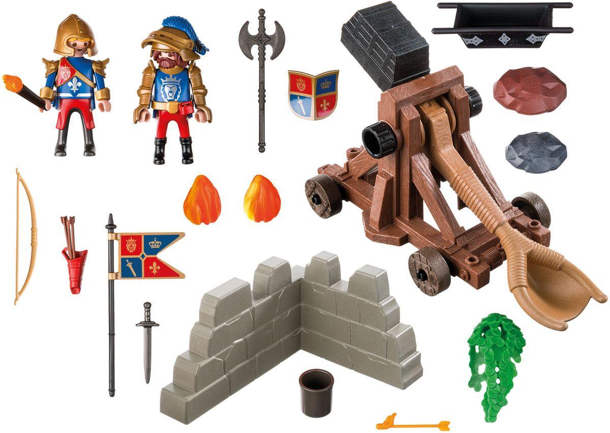 Playmobil Игровой набор Рыцари Катапульта рыцарей Львов рыцари катапульта т57035