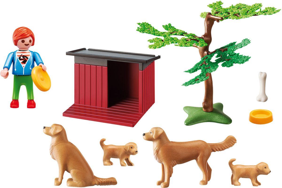 Playmobil Игровой набор Золотые ретриверы с щенками - Игровые наборы