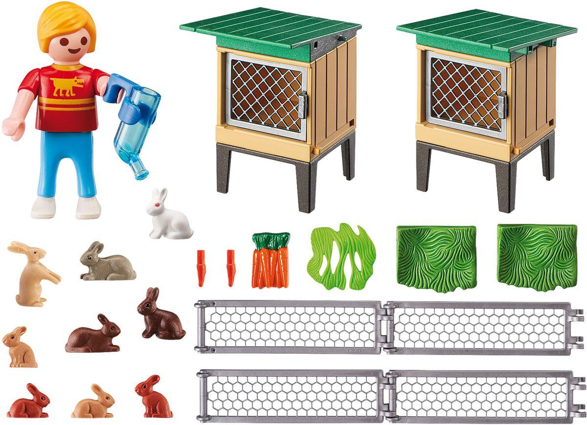 Playmobil Игровой набор Вольер и клетки с кроликами