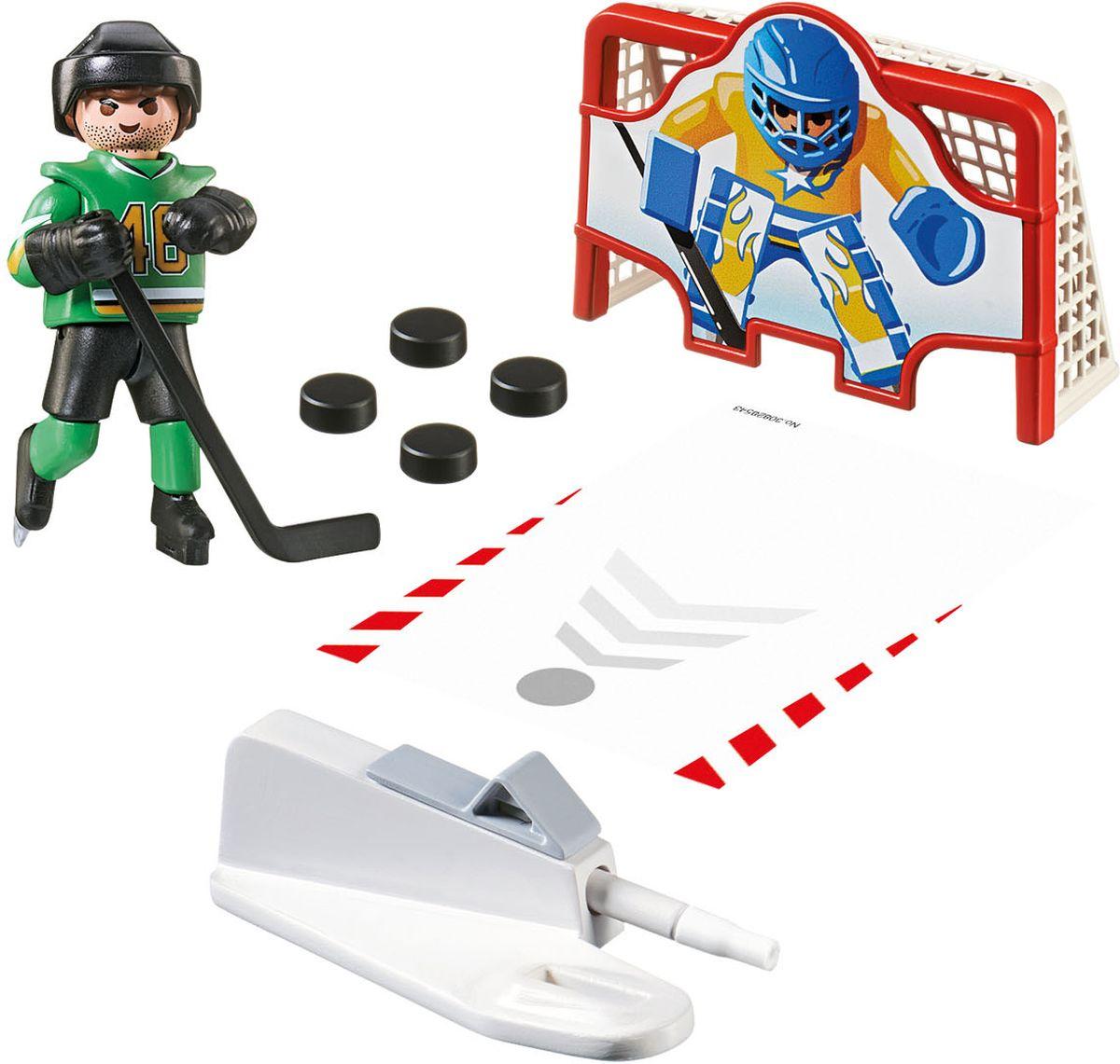 Playmobil Игровой набор Хоккей Тренажер для забивания голов missiya игровой набор суперагент звуковой бинокль