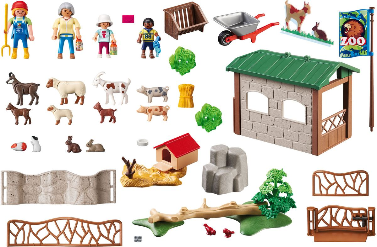 Playmobil Игровой набор Детский контактный зоопарк столбы на забор купить в иркутске