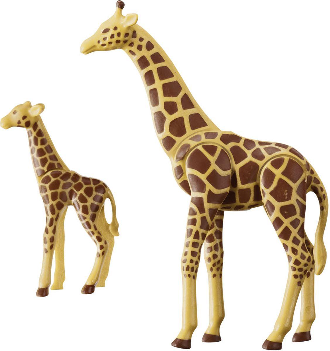 Playmobil Игровой набор Зоопарк Жираф с детенышем фигурки игрушки playmobil зоопарк стая фламинго