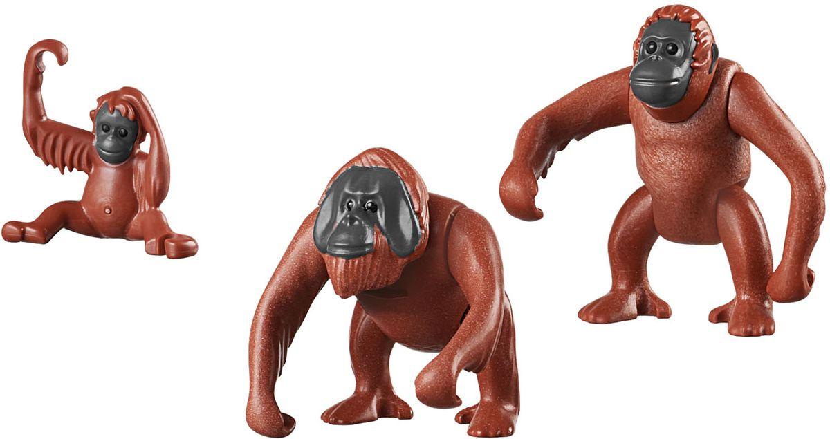Playmobil Игровой набор Зоопарк Семья орангутангов playmobil спасатели с носилками