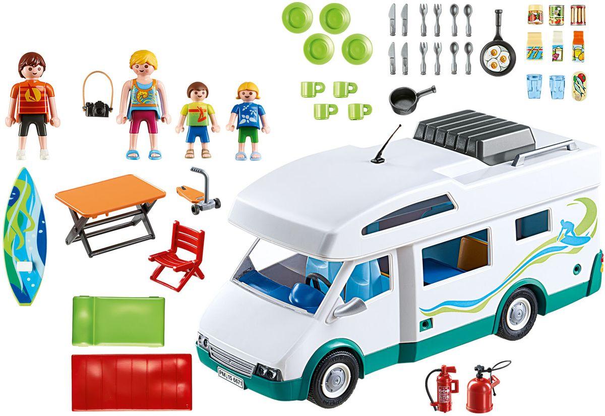 Playmobil Игровой набор Аквапарк Семейный автомобиль-дом на колесах - Игровые наборы