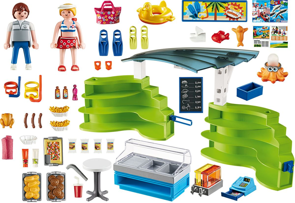 Playmobil Игровой набор Аквапарк Магазин летних товаров с закусочной игровые наборы playmobil аквапарк магазин летних товаров с закусочной