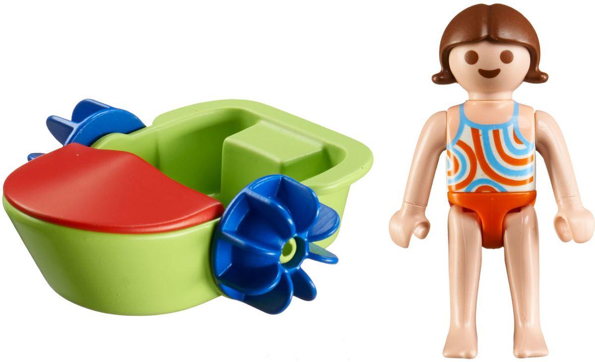Playmobil Игровой набор Аквапарк Девочка в смешной лодке игровые наборы playmobil аквапарк магазин летних товаров с закусочной