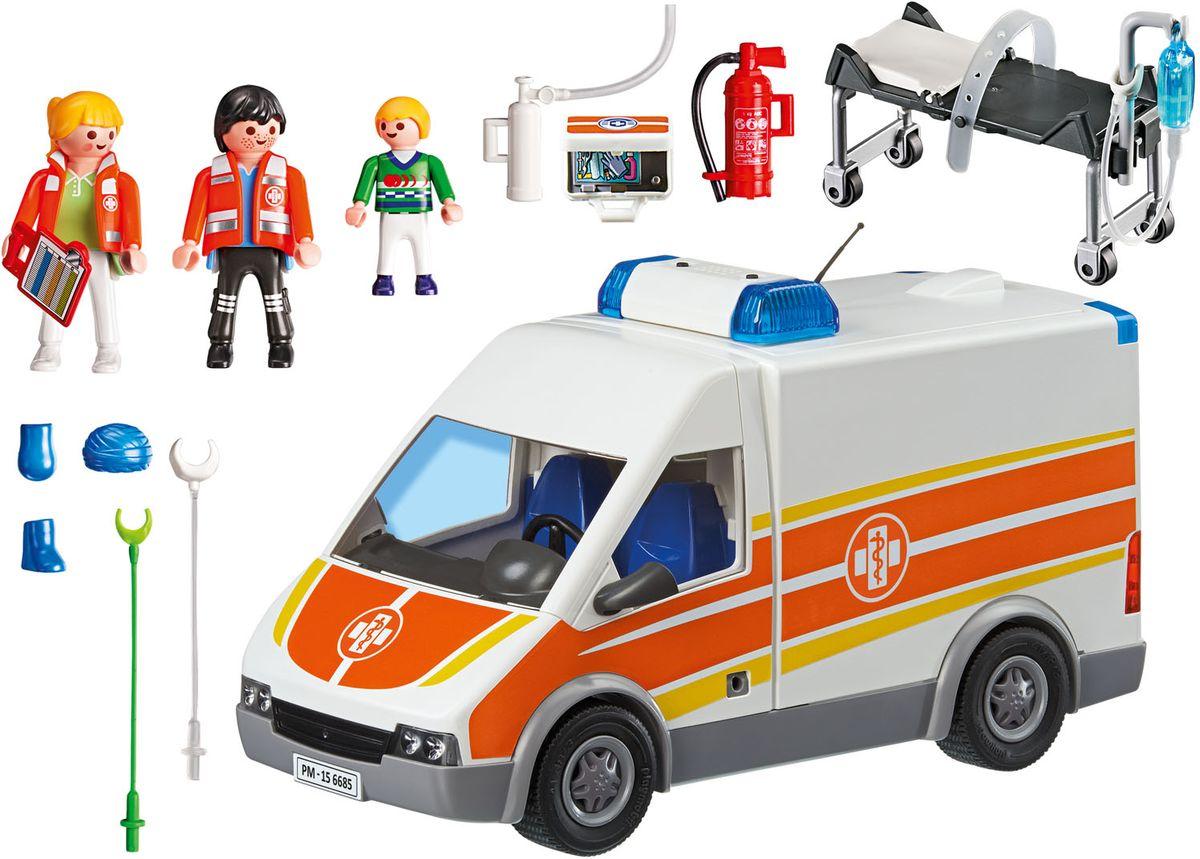 Playmobil Игровой набор Детская клиника Машина скорой помощи футляр укладка для скорой медицинской помощи купить в украине