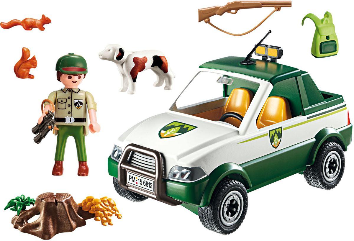 Playmobil Игровой набор Жизнь в лесу Грузовик машинки playmobil в поисках приключений пикап с лодкой