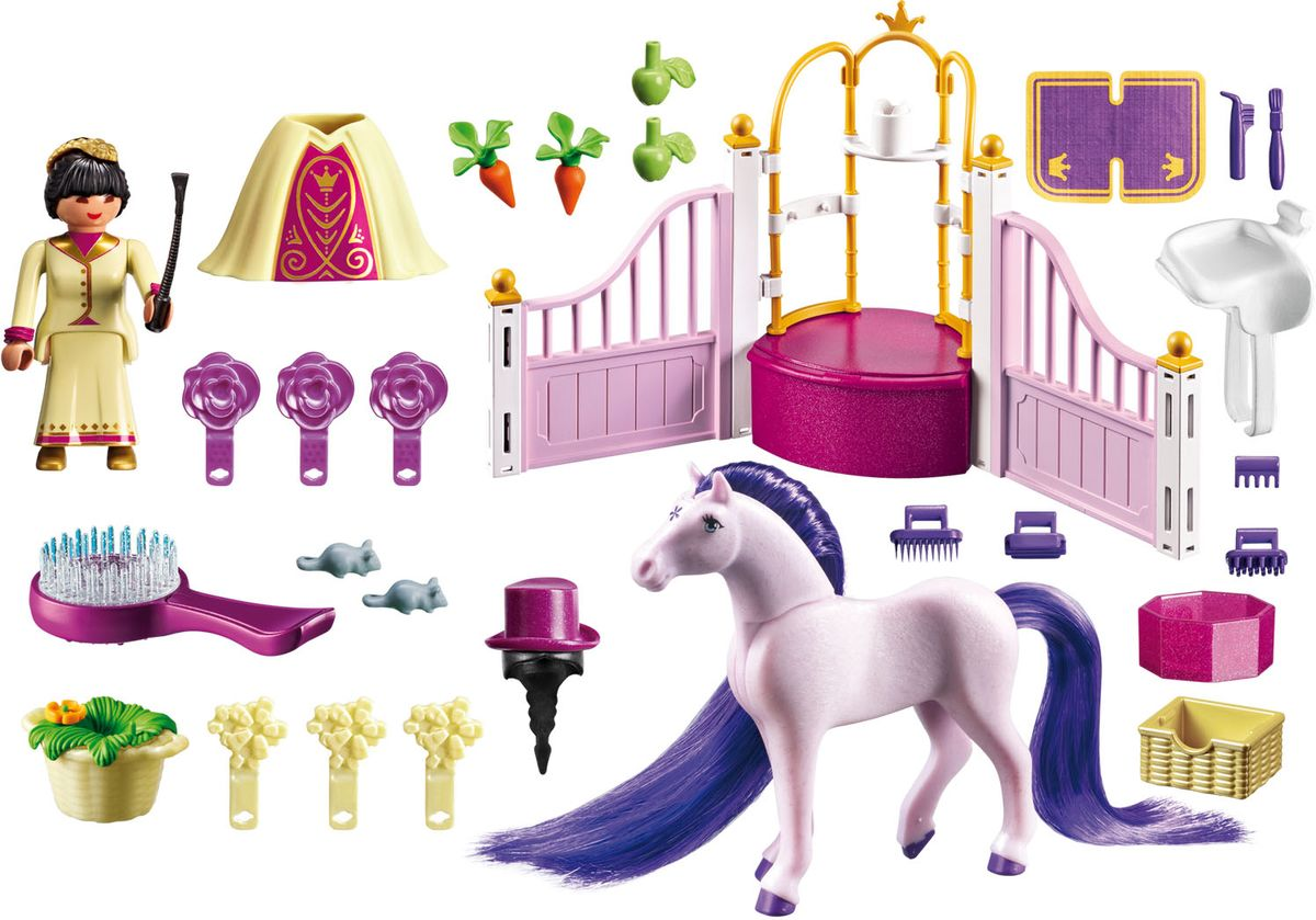 Playmobil Игровой набор Королевская конюшня игровые наборы tomy игровой набор приключения трактора джонни и лошади на ферме