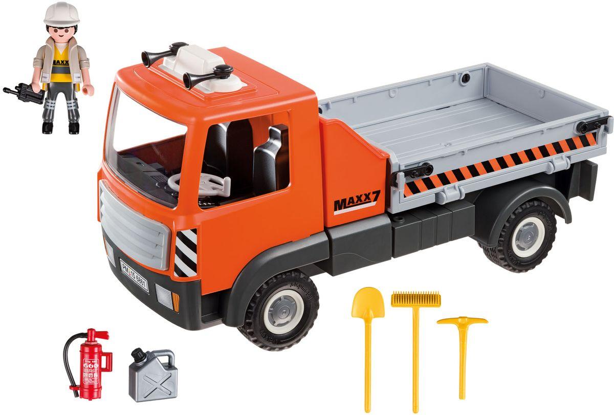 Playmobil Игровой набор Стройка Бортовой грузовик