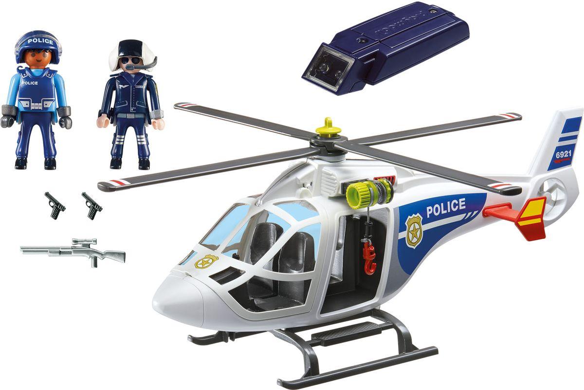 Playmobil Игровой набор Полиция Полицейский вертолет с LED прожектором playmobil игровой набор в поисках приключений лодка с браконьерами