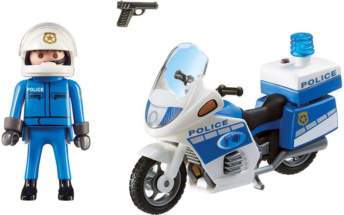 Playmobil Игровой набор Полицейский мотоцикл со светодиодом