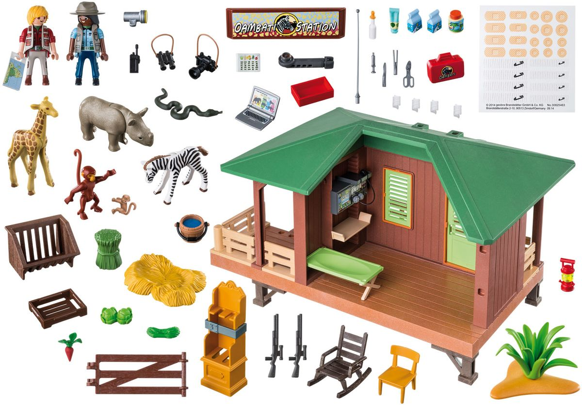 Playmobil Игровой набор Африка Станция Рейнджеров с зоной для животных особняк номер для гостей playmobil