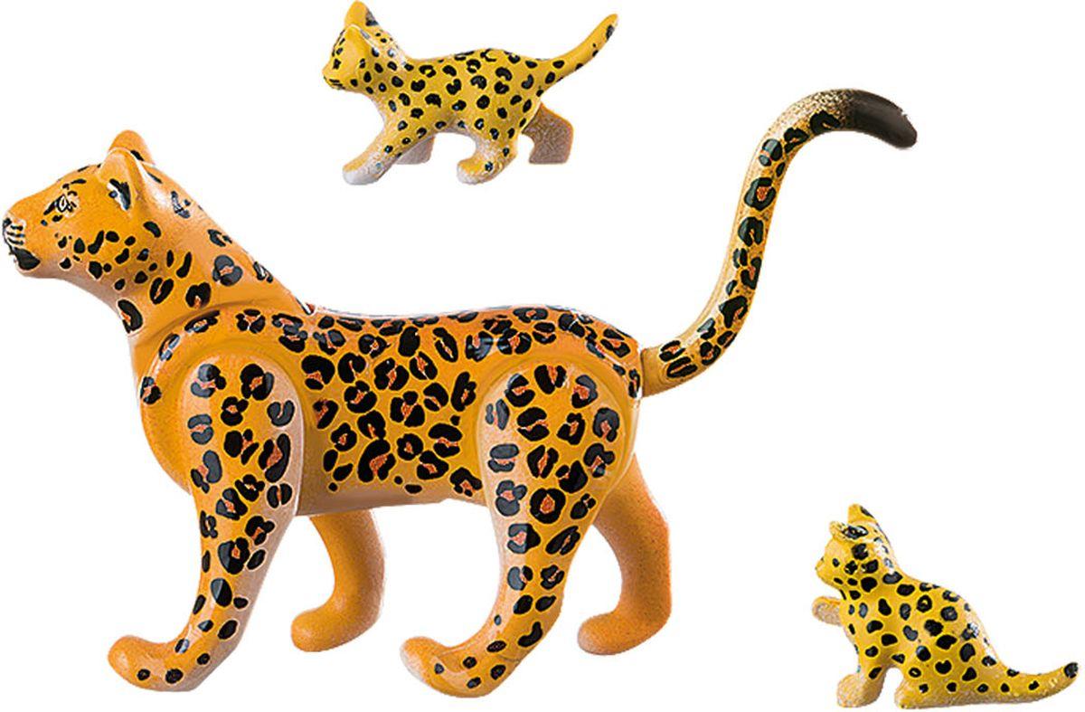Playmobil Игровой набор Африка Леопард с детенышами playmobil игровой набор девочка с морскими свинками