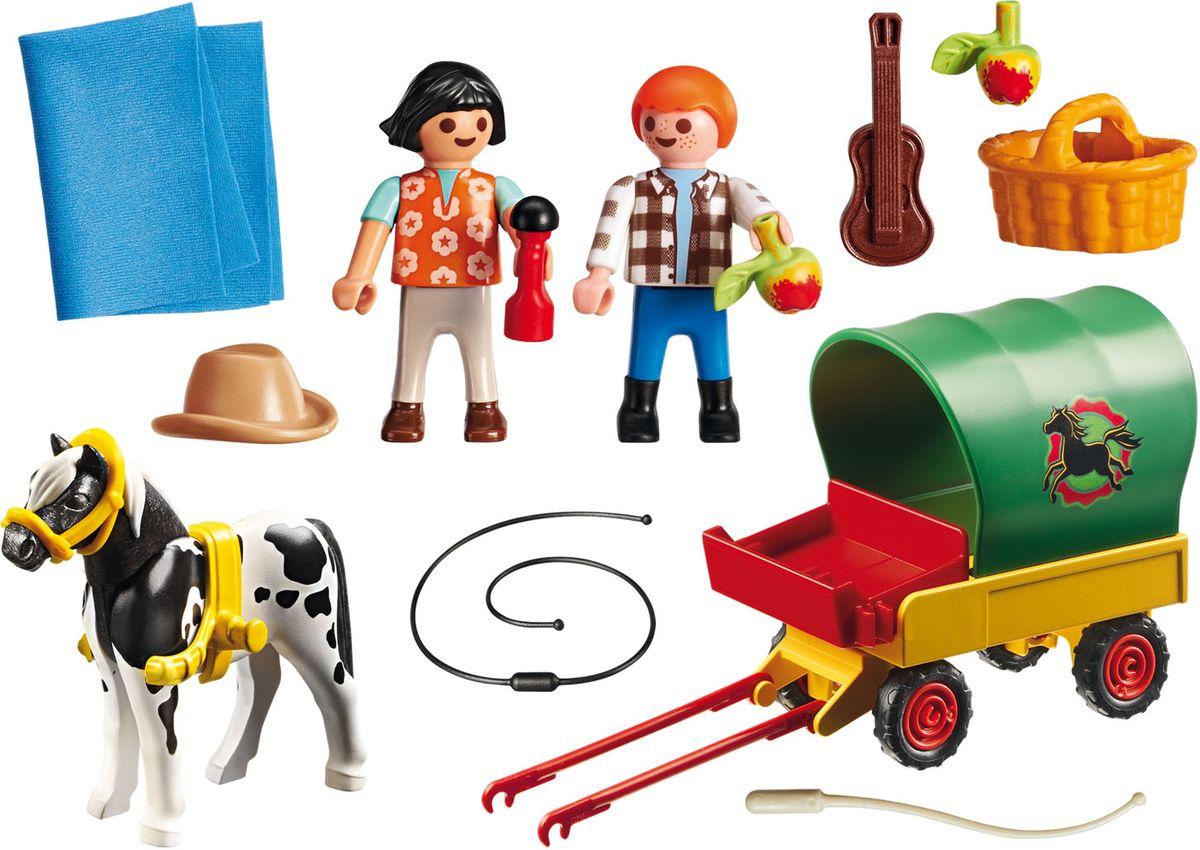 Playmobil Игровой набор Пикник с коневозкой игровой набор playmobil ферма пони пикник с коневозкой
