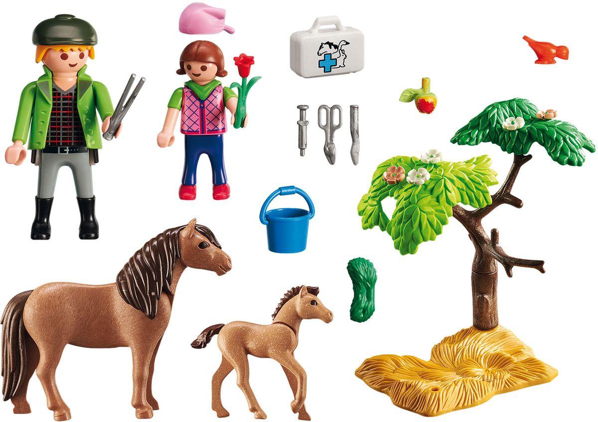 Playmobil Игровой набор Ветеринар с пони и жеребенком - Игровые наборы