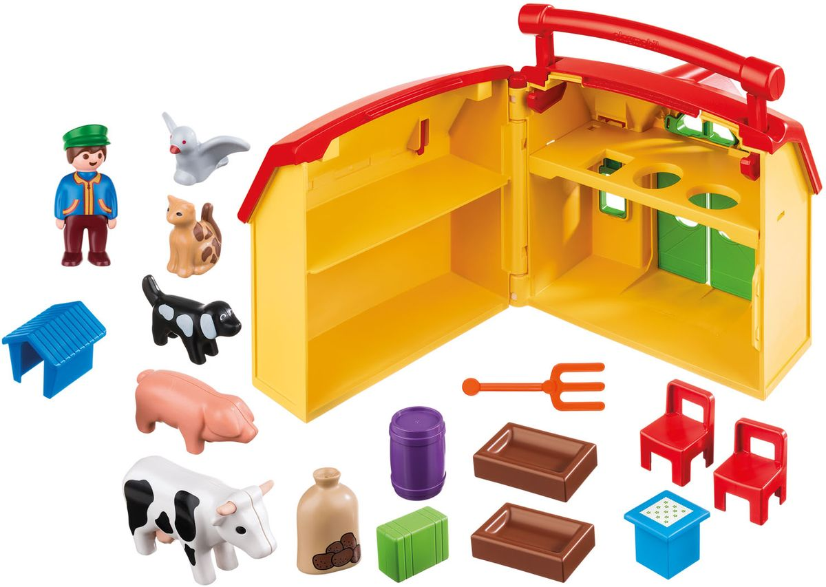 Playmobil Игровой набор Мое путешествие по ферме игровые наборы tomy игровой набор приключения трактора джонни и лошади на ферме