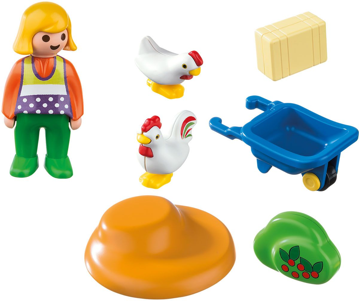 Playmobil Игровой набор Жена фермера с курочками playmobil игровой набор африка газели