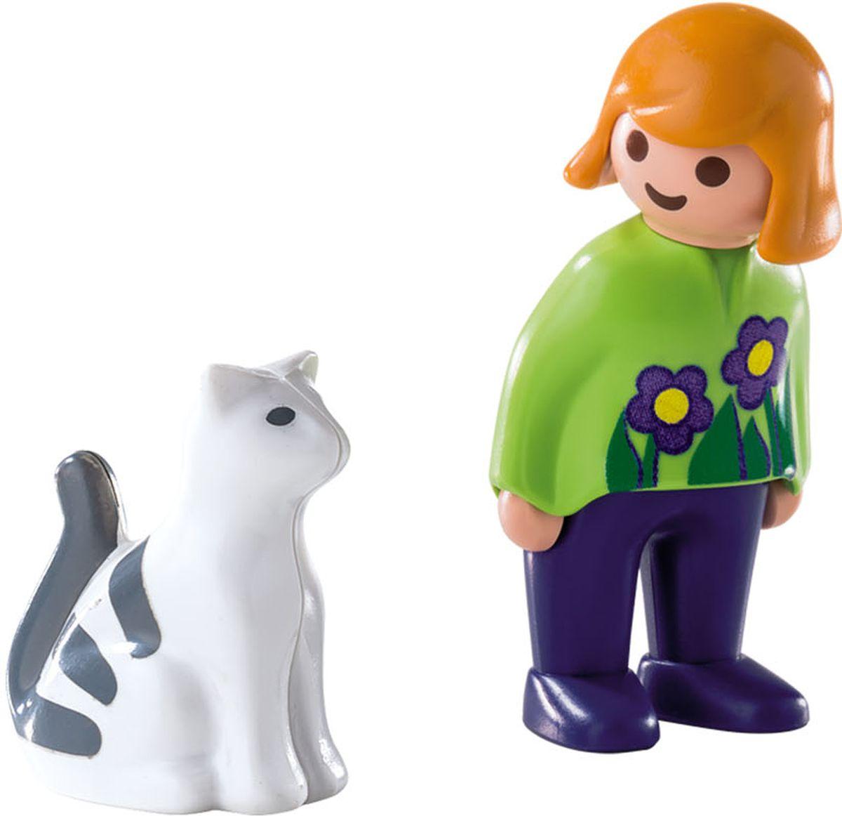 Playmobil Игровой набор Женщина с кошкой playmobil игровой набор в поисках приключений лодка с браконьерами
