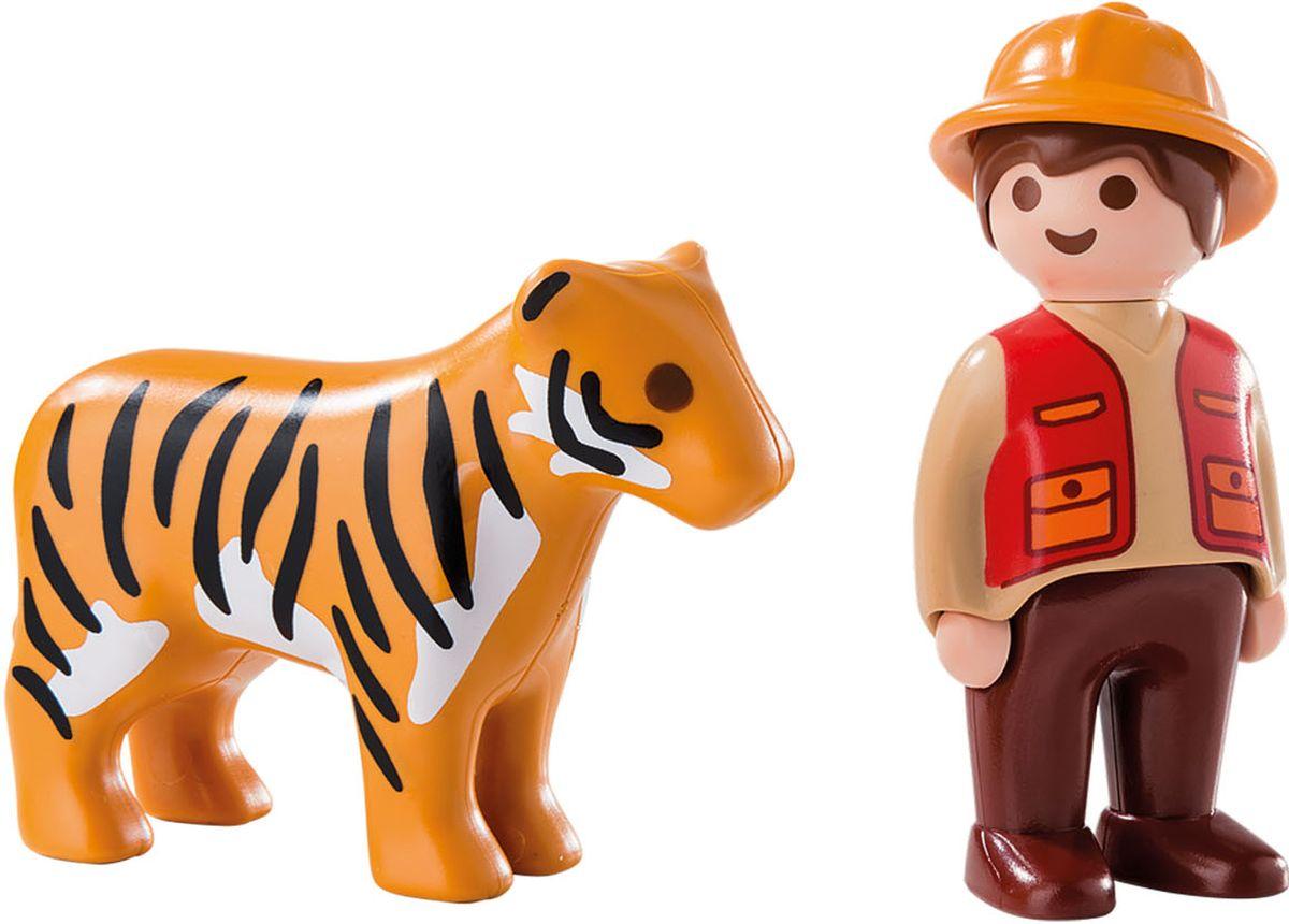 Playmobil Игровой набор Егерь с тигром электронный манок егерь 55d green