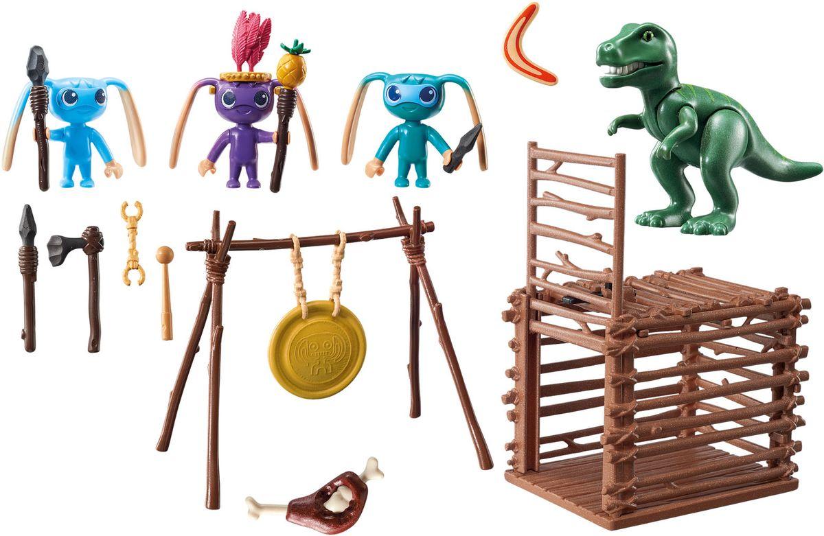 Playmobil Игровой набор Инопланетный воин с Т-рекс ловушкой playmobil игровой набор африка антилопы гну