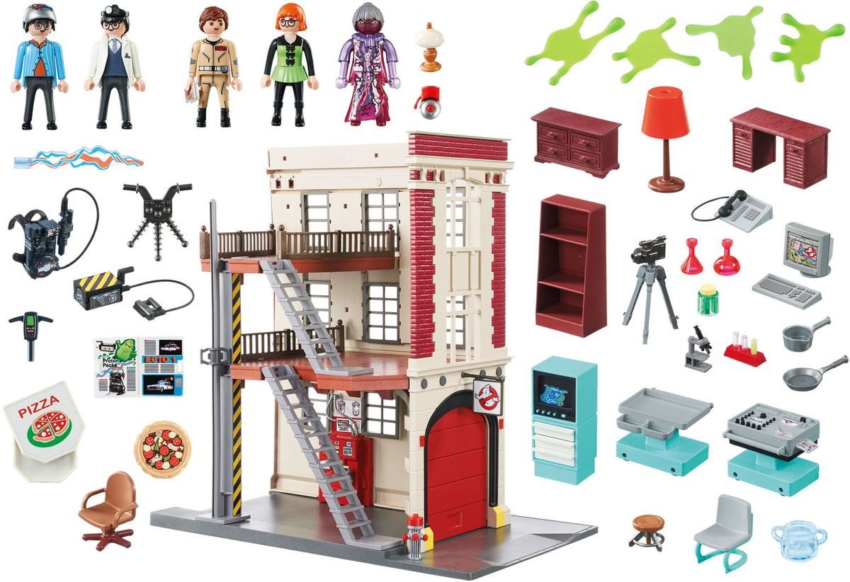 Playmobil Игровой набор Здание пожарной службы playmobil игровой набор охотники за привидениями питер венкман и ужасные собаки