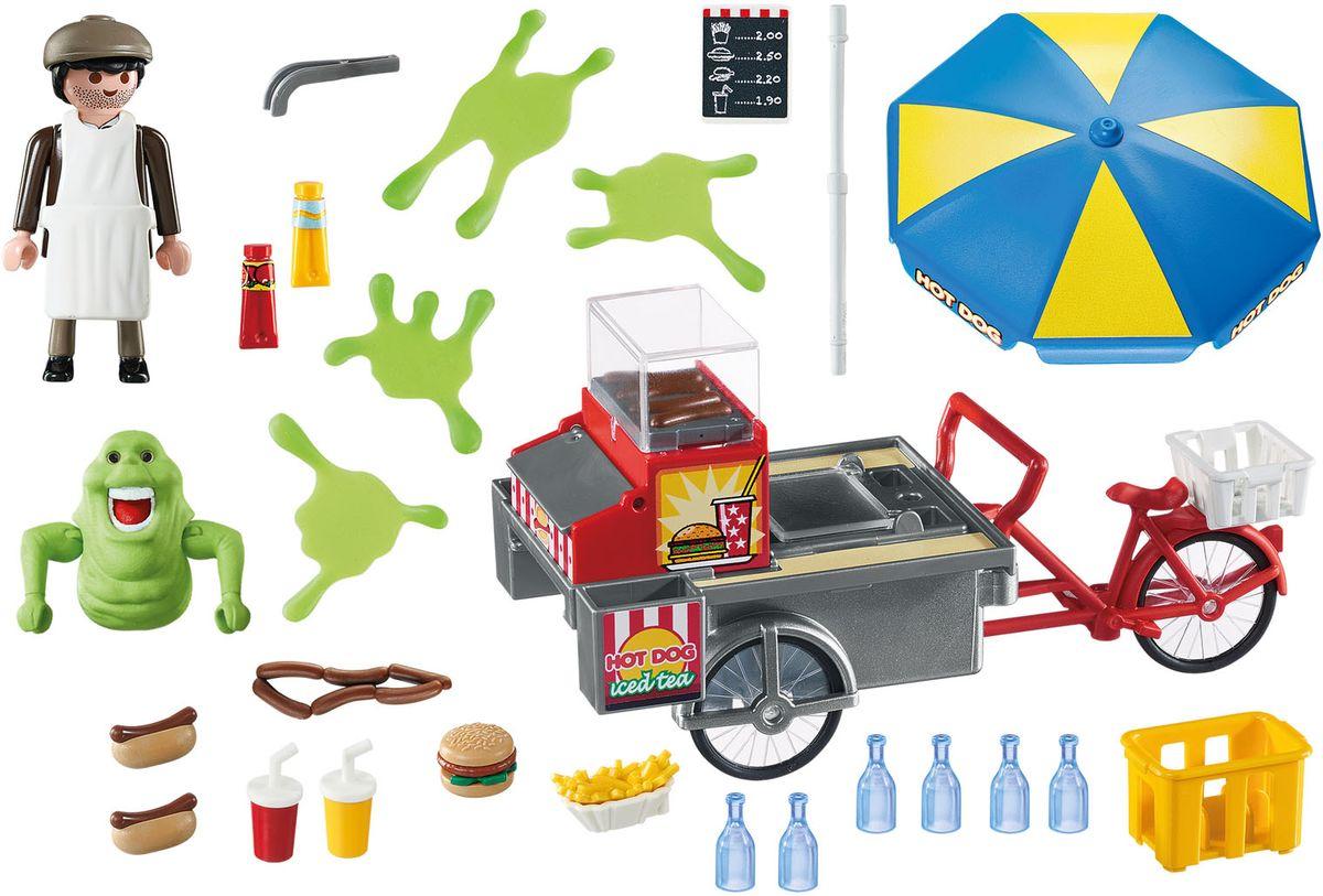 Playmobil Игроой набор Охотники за приидениями Лизун и торгоая тележка с хот-догами
