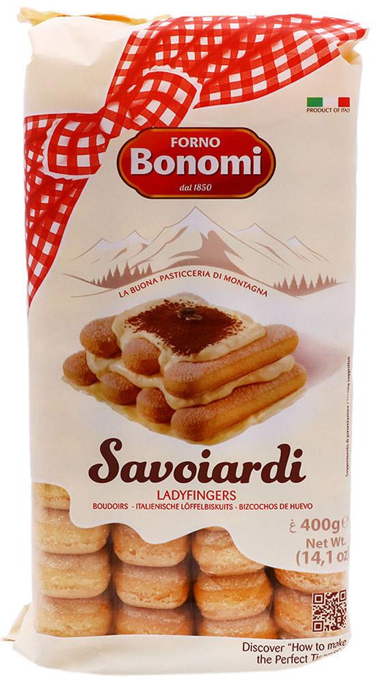 Forno Bonomi Савоярди печенье сахарное, 400 г180Печенье Савоярди Сахарное Bonomi - вкуснейшее бисквитное печенье, вкус которого, вне сомнения, сможет удивить и порадовать родных и близких. Идеально для приготовления Тирамису и тортов-мороженых. История компании Форно Бономи восходит к 1850 году, когда Форно Бономи открыл семейную пекарню в маленькой живописной деревне Веро Веронезе, расположенной высоко в горах неподалеку от Вероны, города Ромео и Джульетты.Со временем популярность кондитерских изделий росла и благодаря усилиям трех братьев, Дарио, Ренато и Фаусто и семейная компания Форно Бономи расширялась.Залог успеха компании Forno Bonomi - великолепное качество кондитерских изделий, которые традиционно производятся по семейной рецептуре с использованием натуральных ингредиентов. В компании работает более 150 сотрудников, создавая и совершенствуя различные продукты и технологии, направленные на улучшение качества. Кондитерские изделия ТМ Forno Bonomi представлены более чем в 90 странах мира.Компания неизменно находится в том же живописном месте: в высокогорье Ровере, сохраняя неизменным подход к качеству и деталям, позволившим стать компании Forno Bonomi крупнейшим мировым производителем всеми любимого печенья савоярди.Печенье Савоярди Forno Bonomi рекомендовано Федерацией итальянских шеф-поваров (FIC) для приготовления традиционного итальянского десерта Тирамису.