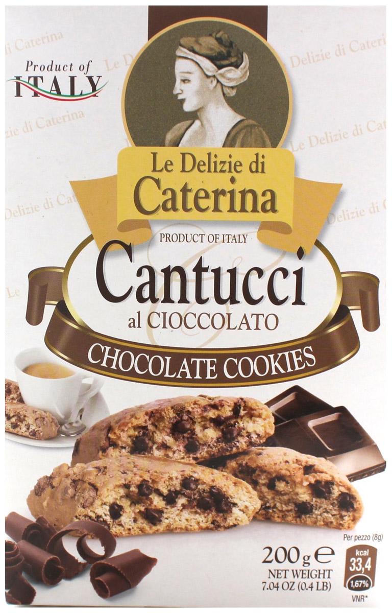 Le Delizie di Caterina Кантуччи печенье с добавлением шоколада, 200 г le delizie di caterina кантуччи печенье с миндалем 200 г