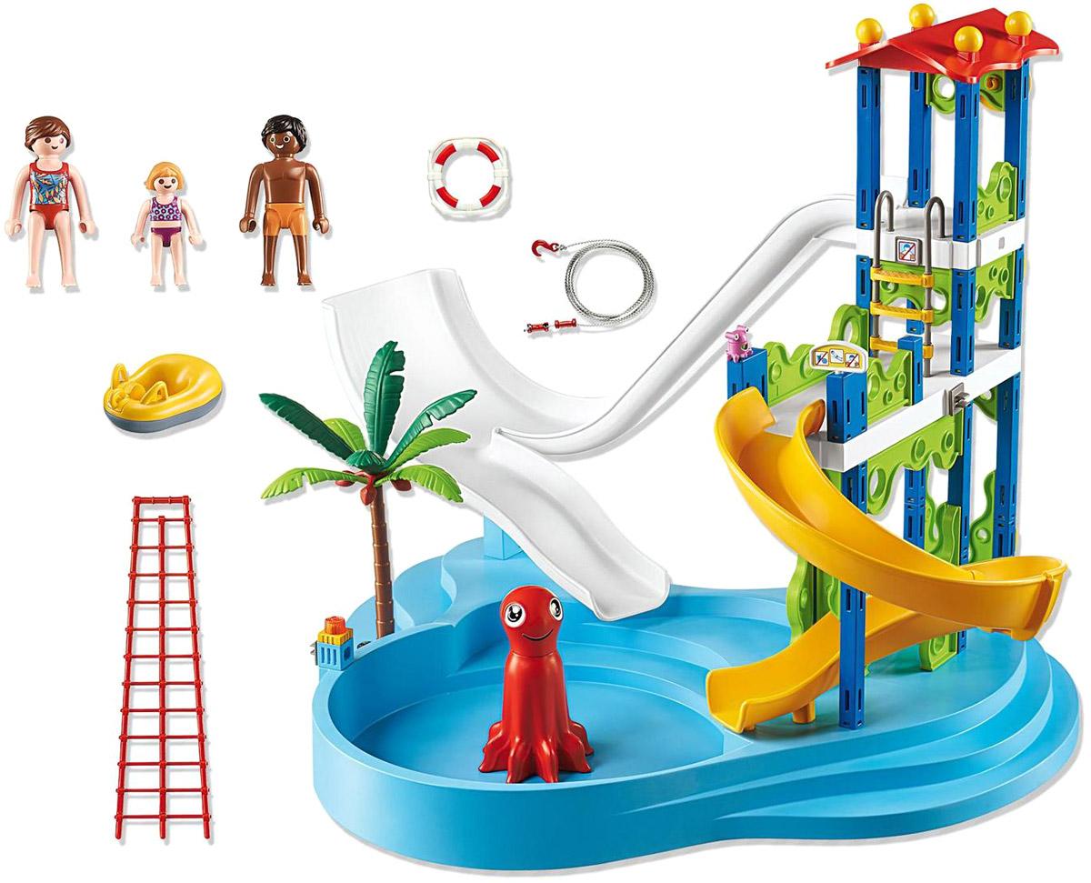 Playmobil Игровой набор Аквапарк Башня с горками игровые наборы playmobil аквапарк магазин летних товаров с закусочной