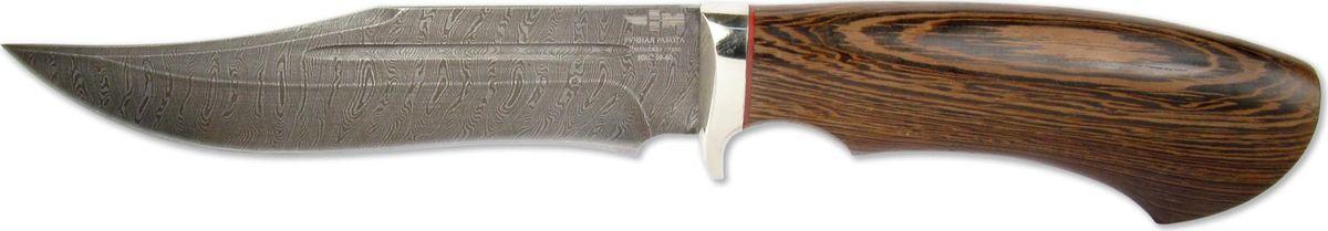 Нож нескладной Ножемир Беринг, дамасская сталь, с ножнами, общая длина 28,5 см ножемир н 222 нескладной