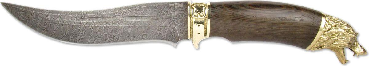 Нож нескладной Ножемир Шуйский, дамасская сталь, с ножнами, общая длина 28 см ножемир н 222 нескладной