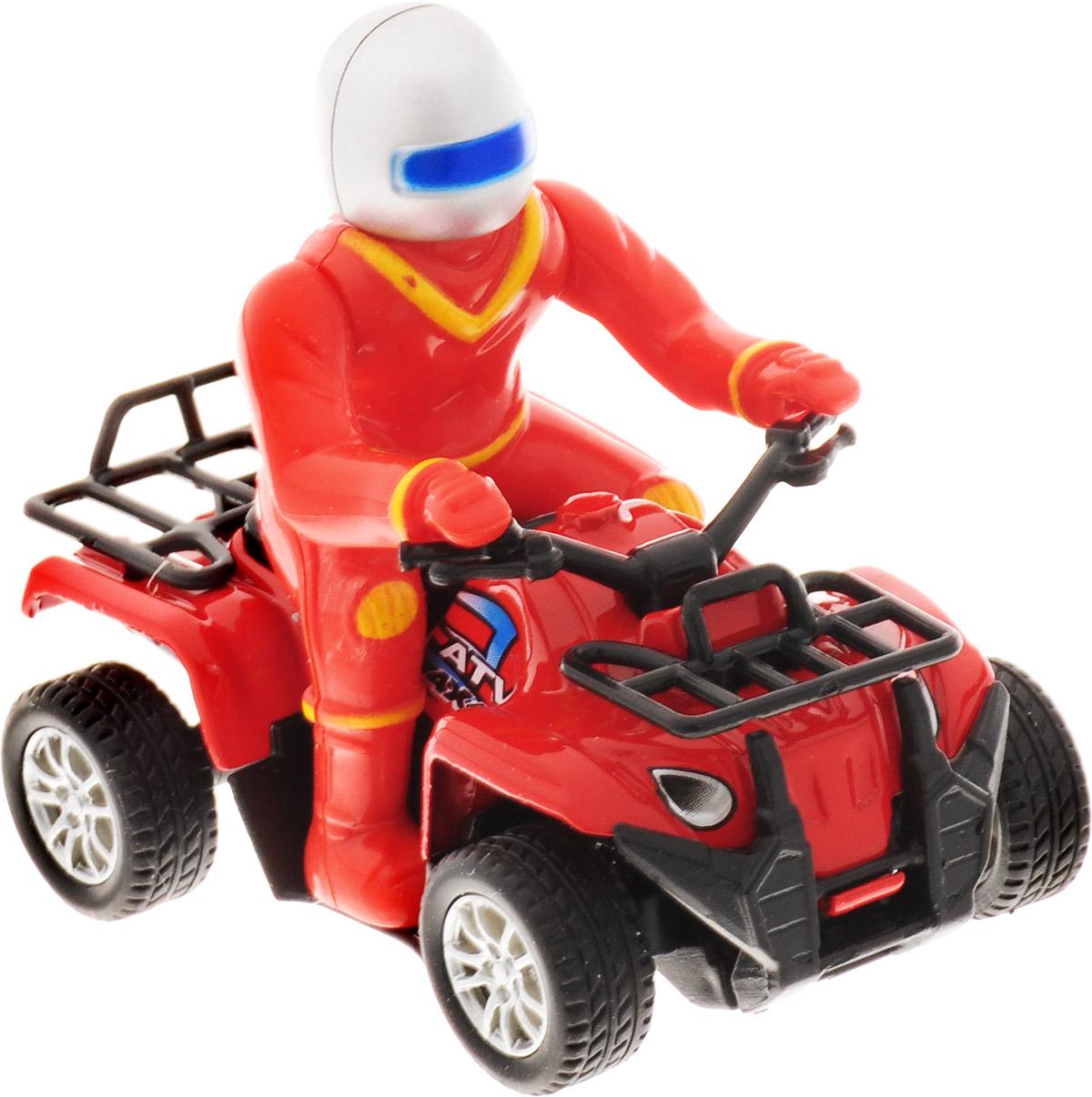 ТехноПарк Квадроцикл с фигуркой цвет красный