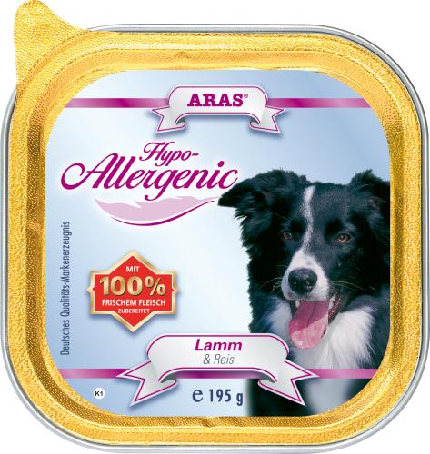 Консервы для собак Aras Hypo-Allergenic, гипоаллергенные, с бараниной и рисом, 195 г103201Консервы Aras Hypo-Allergenic для собак всех пород и возрастов с признаками пищевой непереносимости. Предназначены для профилактики и лечения аллергических проявлений: расстройство пищеварения, ухудшение состояния шерсти и кожи, перхоть и зуд, хроническая диарея и рвота, аллергические реакции. Подходят для кормления пожилых собак. Корм не содержит пшеницу, ячмень, рожь, кукурузу и овес, способные вызывать аллергию у собак из-за наличия в них глютена. Изготовлен без сои и кукурузы, не содержит никаких синтетических добавок, благодаря этому корм очень хорошо усваивается организмом. Состав: свежая баранина и субпродукты (печень, сердце, легкое) 84%, рис 16%.Пищевая ценность: белки 6,4%, жиры 3,8%, зола 2,1%, клетчатка 0,4%, влажность 79,7%. Товар сертифицирован.