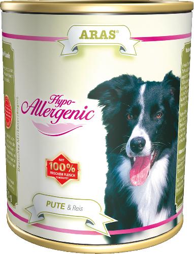 Консервы для собак Aras Hypo-Allergenic, гипоаллергенные, с индейкой и рисом, 820 г консервы для собак aras hypo allergenic гипоаллергенные с бараниной и рисом 820 г