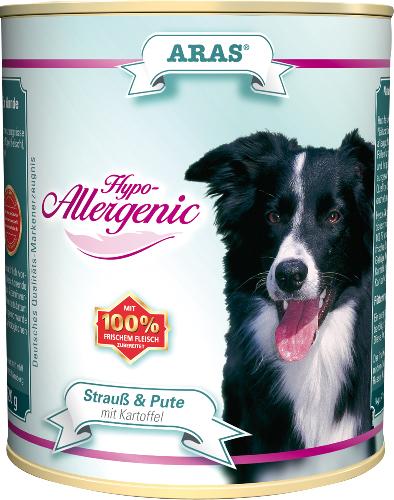 Консервы для собак Aras Hypo-Allergenic, гипоаллергенные, со страусом, индейкой и картофелем, 820 г тушь для ресниц isadora hypo allergenic mascara 02