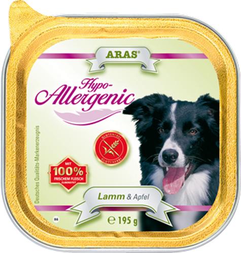 Консервы для собак Aras Hypo-Allergenic, гипоаллергенные, с бараниной и яблоком, 195 г консервы для собак aras hypo allergenic гипоаллергенные с бараниной и рисом 820 г