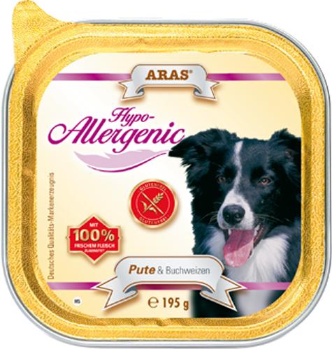 Консервы для собак Aras Hypo-Allergenic, гипоаллергенные, с индейкой и гречкой, 195 г консервы для собак aras hypo allergenic гипоаллергенные с бараниной и рисом 820 г