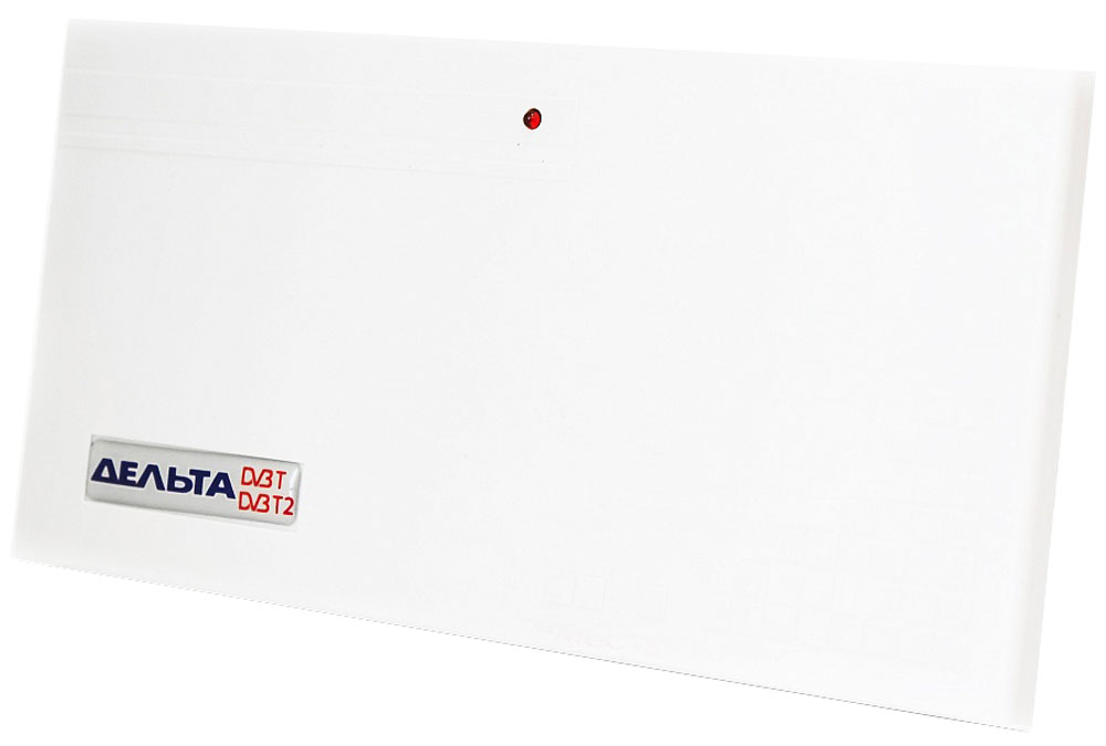 Дельта Цифра 12V комнатная ТВ-антенна (активная)14863Антенна Дельта Цифра предназначена для приёма телевизионных программ цифрового и аналогового телевещания в ДМВ-диапазоне. Рассчитана для работы в интервале температур от 5 до 35 °С и предельном значении относительной влажности воздуха 80% при 25 °С.Антенна укомплектована усилителем для повышения уровня сигнала и компенсации его затухания в кабеле антенны. Антенный усилитель не имеет собственного источника и рассчитан на питание 12 В, подводимое по кабелю антенны от внешнего источника постоянного напряжения 12 В (блока питания с сепаратором).