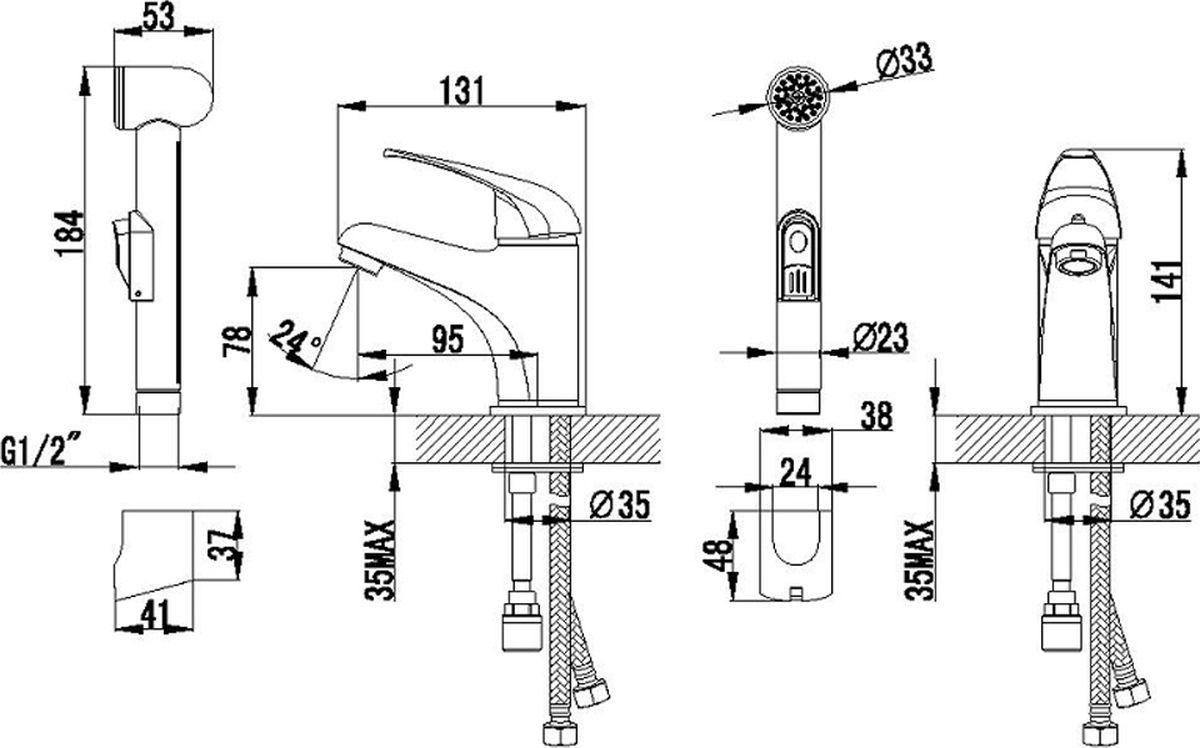 """Смеситель для умывальника Milardo """"Davis"""" изготовлен из высококачественной первичной латуни, прочной, безопасной и стойкой к коррозии. Инновационные технологии литья и обработки латуни, а также увеличенная толщина стенок смесителя обеспечивают его стойкость к перепадам давления и температур. Никель-хромовое покрытие полностью соответствует европейским стандартам качества, обеспечивает его стойкость и зеркальный блеск в течение всего срока службы изделия. Благодаря гладкой внутренней поверхности смесителя, рассекателям в водозапорных механизмах и аэратору он имеет минимальный уровень шума.Компактная лейка изготовлена из прочного ABS-пластика, шланг – из нержавеющей стали. Переключение потока воды на гигиеническую лейку осуществляется нажатием на кнопку на лейке.Гарантия на смеситель Milardo """"Davis"""" – 7 лет."""