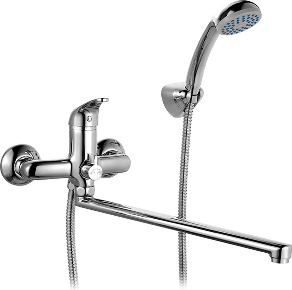 Смеситель для ванны Milardo Davis, с длинным изливом, цвет: хромDAVSBLCM10Смеситель для ванны Milardo Davis изготовлен из высококачественной первичной латуни, прочной, безопасной и стойкой к коррозии. Инновационные технологии литья и обработки латуни, а также увеличенная толщина стенок смесителя обеспечивают его стойкость к перепадам давления и температур. Увеличенное никель-хромовое покрытие полностью соответствует европейским стандартам качества, обеспечивает его стойкость и зеркальный блеск в течение всего срока службы изделия.Благодаря гладкой внутренней поверхности смесителя, рассекателям в водозапорных механизмах и аэратору он имеет минимальный уровень шума. Смеситель оборудован керамическим дивертором, чей сверхнадежный механизм обеспечивает плавное и мягкое переключение с излива на душ, а также непревзойденную надежность при любом давлении воды.Аэратор: съемный пластиковый.Картридж: керамический. Диаметр картриджа: 35 мм.Дивертор: керамический.Длина излива: 41,5 см.