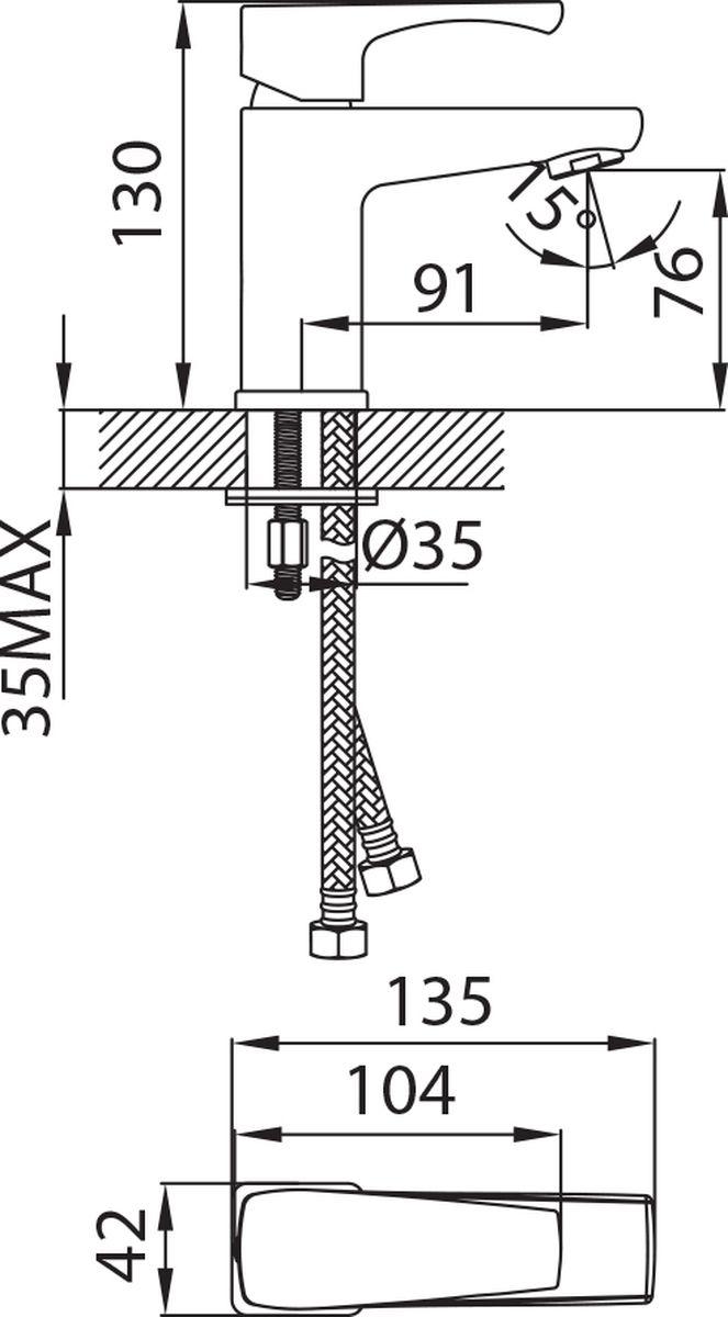 """Смеситель для умывальника Milardo """"Labrador"""" изготовлен из высококачественной первичной латуни, прочной, безопасной и стойкой к коррозии. Инновационные технологии литья и обработки латуни, а также увеличенная толщина стенок смесителя обеспечивают его стойкость к перепадам давления и температур. Никель-хромовое покрытие полностью соответствует европейским стандартам качества, обеспечивает его стойкость и зеркальный блеск в течение всего срока службы изделия. Благодаря гладкой внутренней поверхности смесителя, рассекателям в водозапорных механизмах и аэратору он имеет минимальный уровень шума.Гарантия на смеситель Milardo """"Labrador"""" – 7 лет."""
