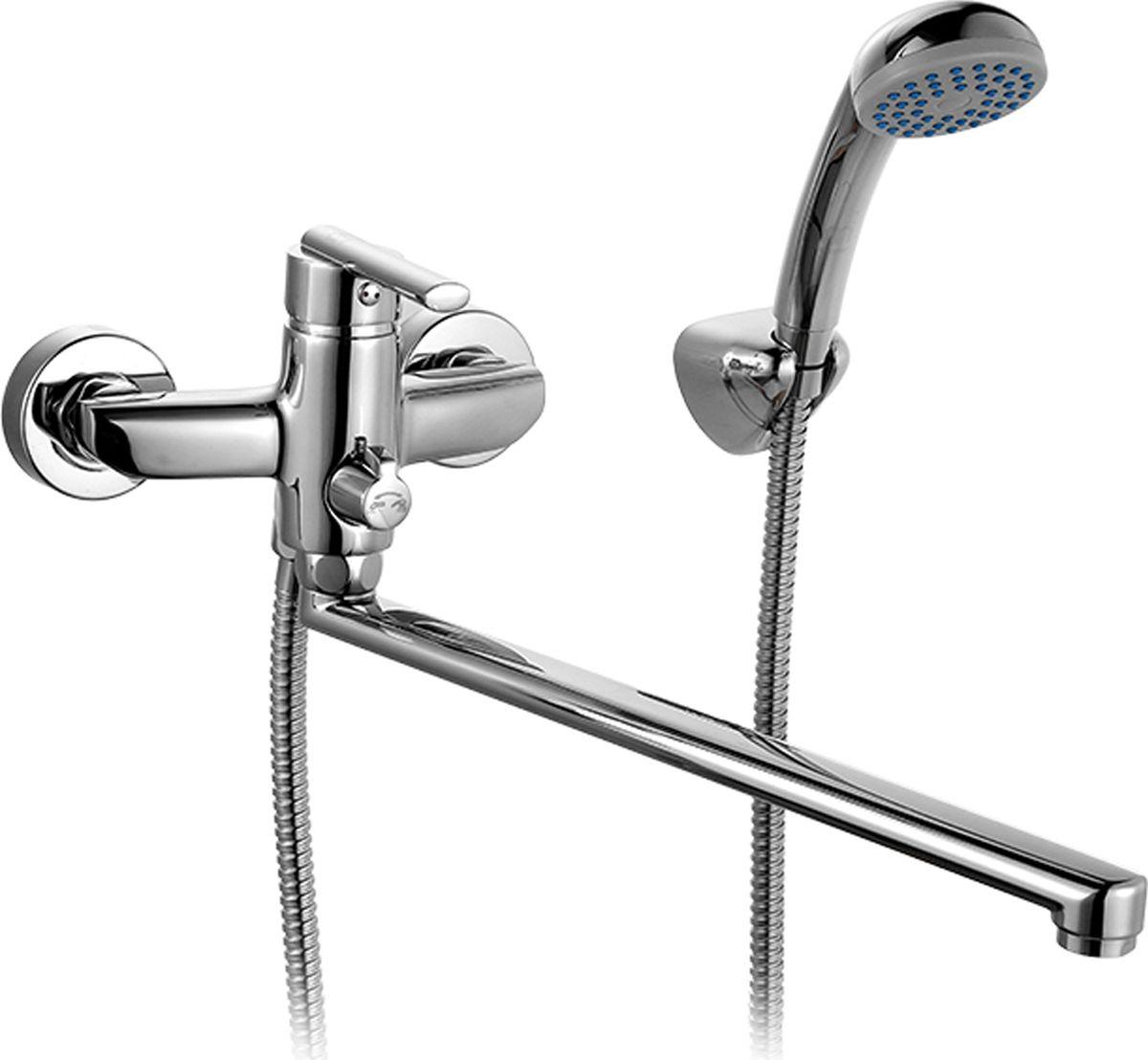 Смеситель для ванны Milardo Magellan, с длинным изливом, цвет: хромMAGSBLCM10Смеситель для ванны Milardo изготовлен из высококачественной первичной латуни, прочной, безопасной и стойкой к коррозии. Инновационные технологии литья и обработки латуни, а также увеличенная толщина стенок смесителя обеспечивают его стойкость к перепадам давления и температур. Увеличенное никель-хромовое покрытие полностью соответствует европейским стандартам качества, обеспечивает его стойкость и зеркальный блеск в течение всего срока службы изделия.Благодаря гладкой внутренней поверхности смесителя, рассекателям в водозапорных механизмах и аэратору он имеет минимальный уровень шума. Смеситель оборудован керамическим дивертором, чей сверхнадежный механизм обеспечивает плавное и мягкое переключение с излива на душ, а также непревзойденную надежность при любом давлении воды. В комплект входят лейка и шланг из нержавеющей стали длиной 1,5 м с защитой от перекручивания.Аэратор: съемный пластиковый.Картридж: керамический. Диаметр картриджа: 35 мм.Дивертор: керамический.Длина излива: 30 см.
