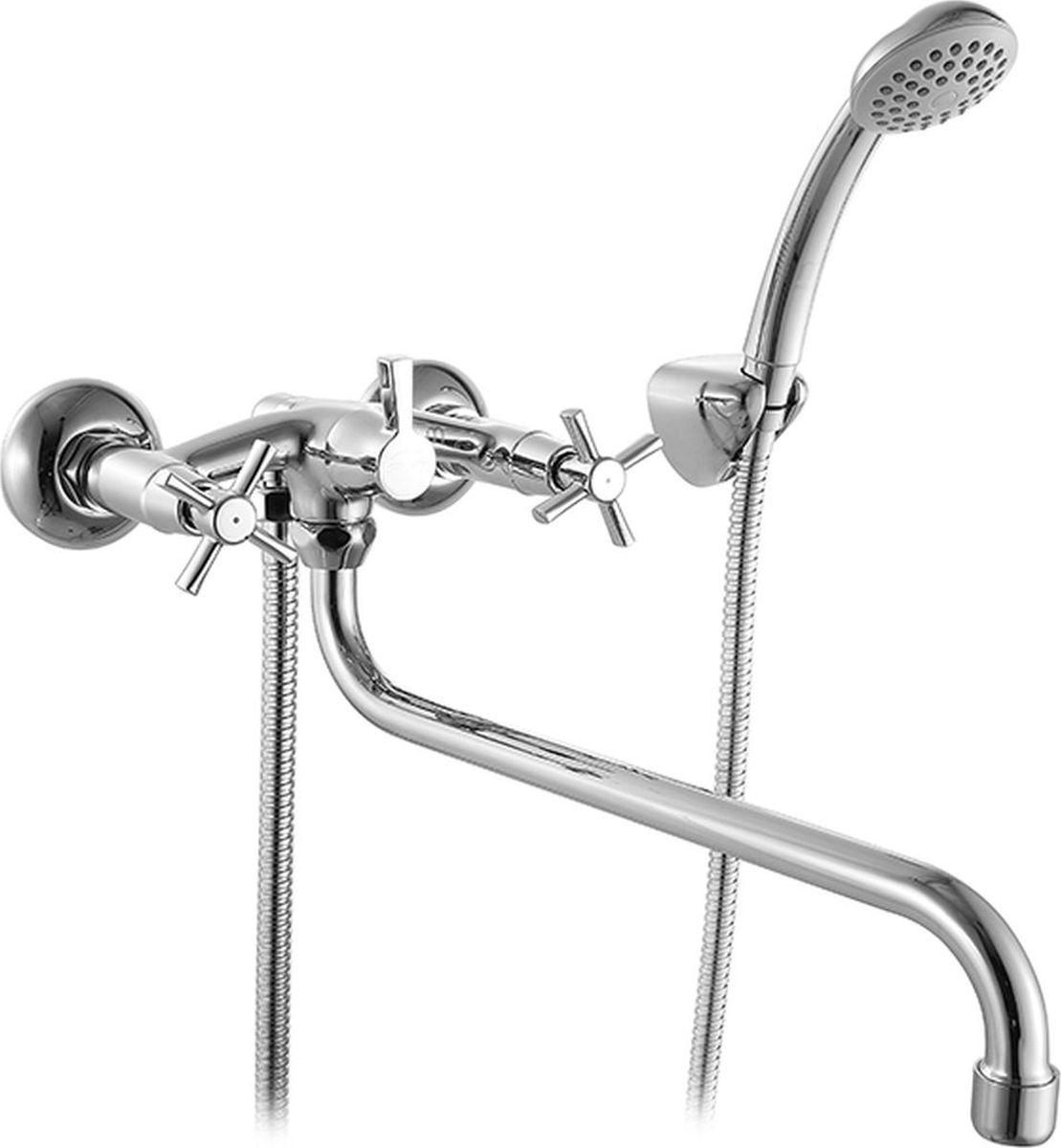 Смеситель для ванны Milardo Ontario, с длинным изливом, цвет: хромONTSBLCM10Смеситель для ванны Milardo изготовлен из высококачественной первичной латуни, прочной, безопасной и стойкой к коррозии. Инновационные технологии литья и обработки латуни, а также увеличенная толщина стенок смесителя обеспечивают его стойкость к перепадам давления и температур. Увеличенное никель-хромовое покрытие полностью соответствует европейским стандартам качества, обеспечивает его стойкость и зеркальный блеск в течение всего срока службы изделия.Благодаря гладкой внутренней поверхности смесителя, рассекателям в водозапорных механизмах и аэратору он имеет минимальный уровень шума. Смеситель оборудован керамическим дивертором, чей сверхнадежный механизм обеспечивает плавное и мягкое переключение с излива на душ, а также непревзойденную надежность при любом давлении воды. В комплект входят лейка и шланг из нержавеющей стали длиной 1,5 м с защитой от перекручивания.Аэратор: съемный пластиковый.Картридж: керамический.Кран-буксы: керамические, с углом поворота 180 градусов. Диаметр картриджа: 35 мм.Дивертор: керамический.Длина излива: 36,2 см.