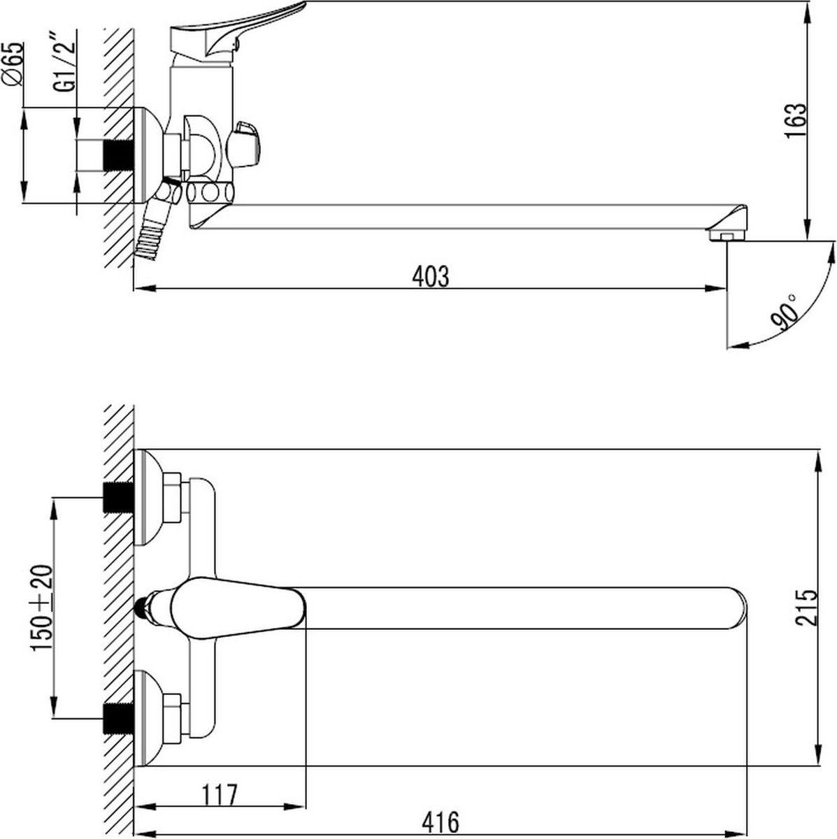 """Смеситель для ванны """"Milardo"""" изготовлен из высококачественной первичной латуни, прочной, безопасной и стойкой к коррозии. Инновационные технологии литья и обработки латуни, а также увеличенная толщина стенок смесителя обеспечивают его стойкость к перепадам давления и температур. Увеличенное никель-хромовое покрытие полностью соответствует европейским стандартам качества, обеспечивает его стойкость и зеркальный блеск в течение всего срока службы изделия.Благодаря гладкой внутренней поверхности смесителя, рассекателям в водозапорных механизмах и аэратору он имеет минимальный уровень шума. Смеситель оборудован керамическим дивертором, чей сверхнадежный механизм обеспечивает плавное и мягкое переключение с излива на душ, а также непревзойденную надежность при любом давлении воды. В комплект входят лейка и шланг из нержавеющей стали длиной 1,5 м с защитой от перекручивания.Аэратор: съемный пластиковый.Картридж: керамический. Диаметр картриджа: 35 мм.Дивертор: керамический.Длина излива: 40,3 см."""