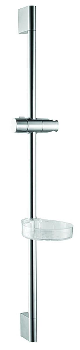 Стойка душевая Milardo, с мыльницей, высота 70 см. 0807000M170807000M17Стойка для душа Milardo изготовлена из нержавеющей стали, прочного и устойчивого к износу материала, с надежным никель-хромовым покрытием, которое гарантирует идеальный зеркальный блеск и защиту изделия на долгий срок. Держатель предусматривает возможность регулировки наклона лейки, что позволяет размещать ее под комфортным углом. В комплект стойки входит прозрачная мыльница и крепления.Длина стойки: 70 см.