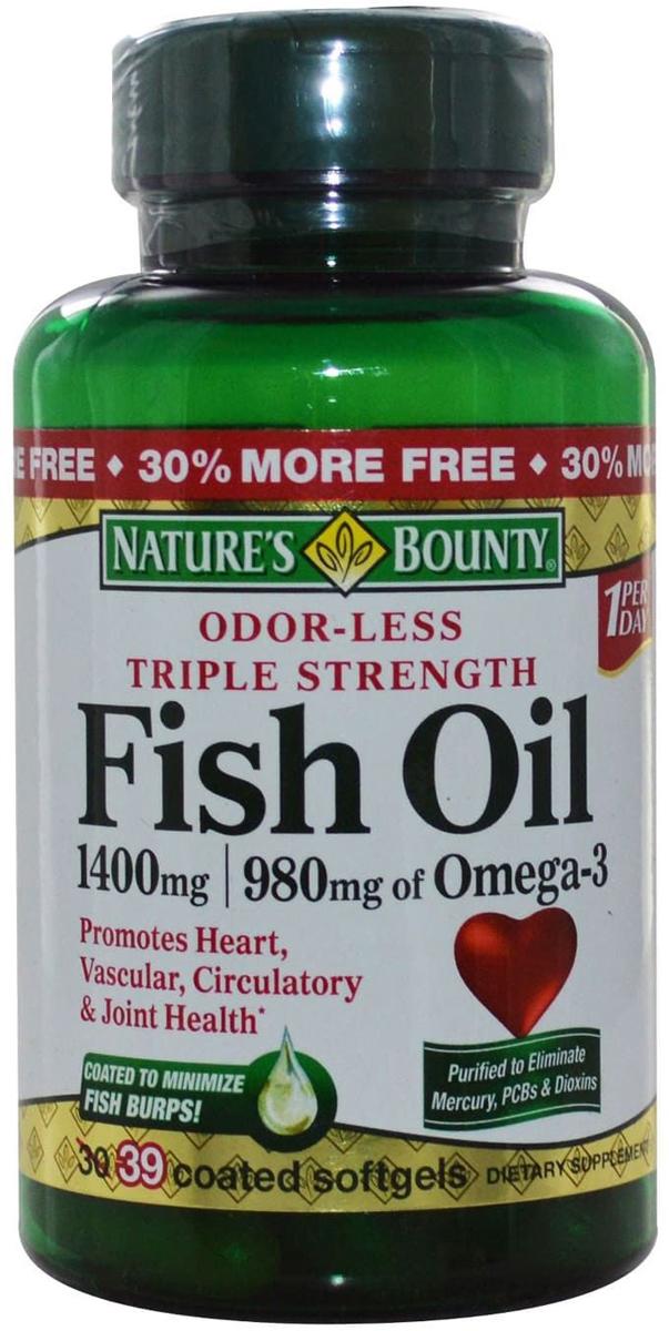 Нэйчес Баунти Рыбий жир Омега-3 капсулы 1000 мг №50219522Омега-3 ПНЖК способствуют снижению уровня холестерина в крови и тем самым предотвращает развитие атеросклероза и сердечно-сосудистых заболеваний. Сфера применения: ВитаминологияОмега