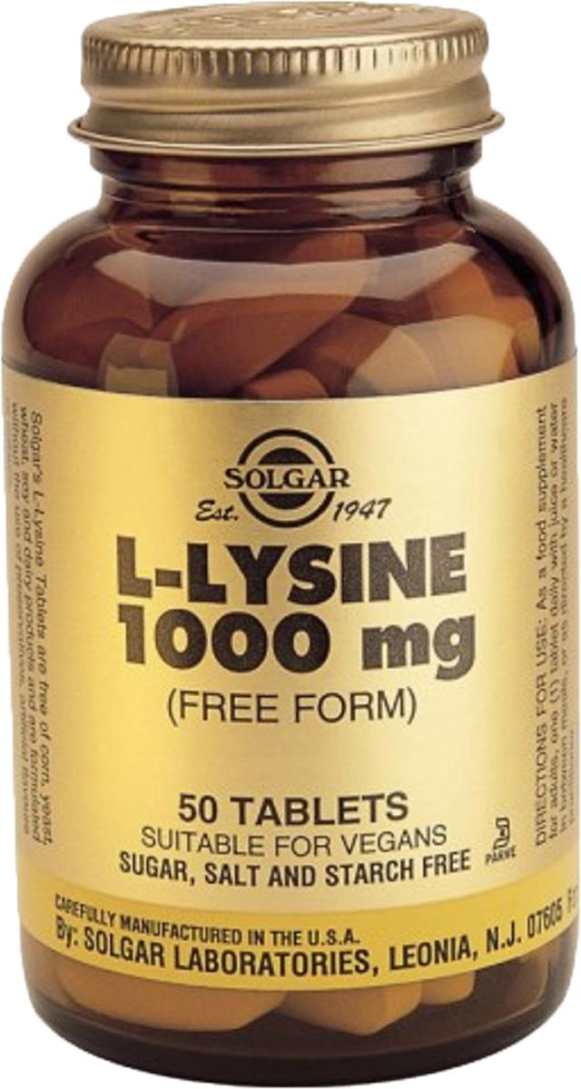 Солгар L-Лизин таблетки 1000 мг №50 - Аптека