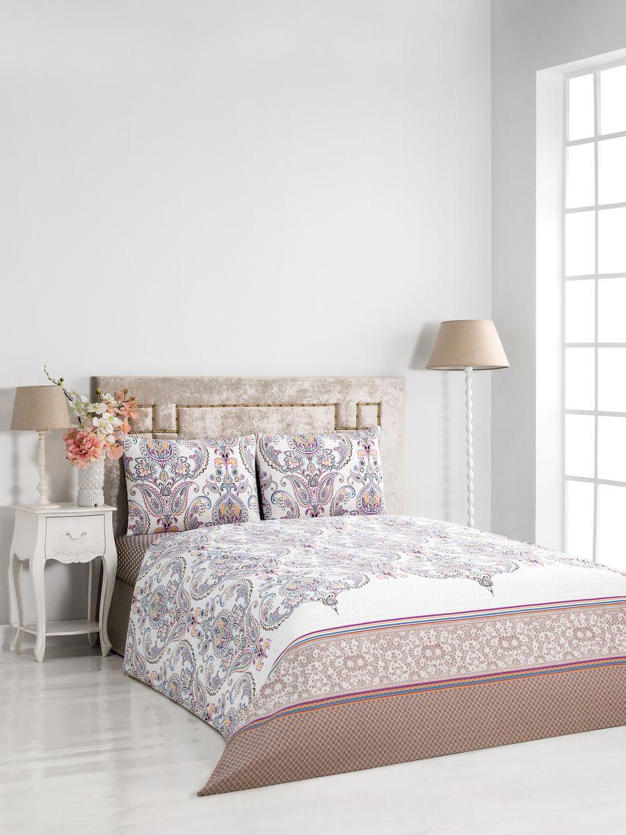 Комплект постельного белья Сlassic by T Вернисаж, 2- спальный, сатин, цвет: сиреневый. 30.07.26.0047