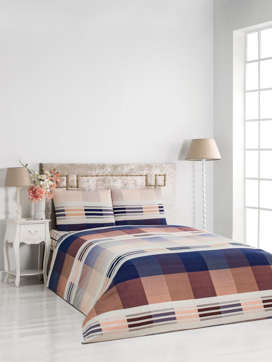 Комплект постельного белья Сlassic by T Чарли, 2- спальный, сатин, цвет: бежевый. 30.07.26.0083